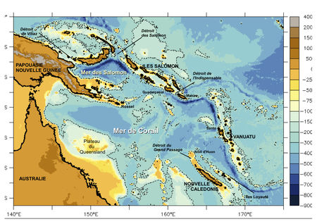 Pacific Ocean Topographic Map.Secargo Coriolis In Situ Data For Operational Oceanography